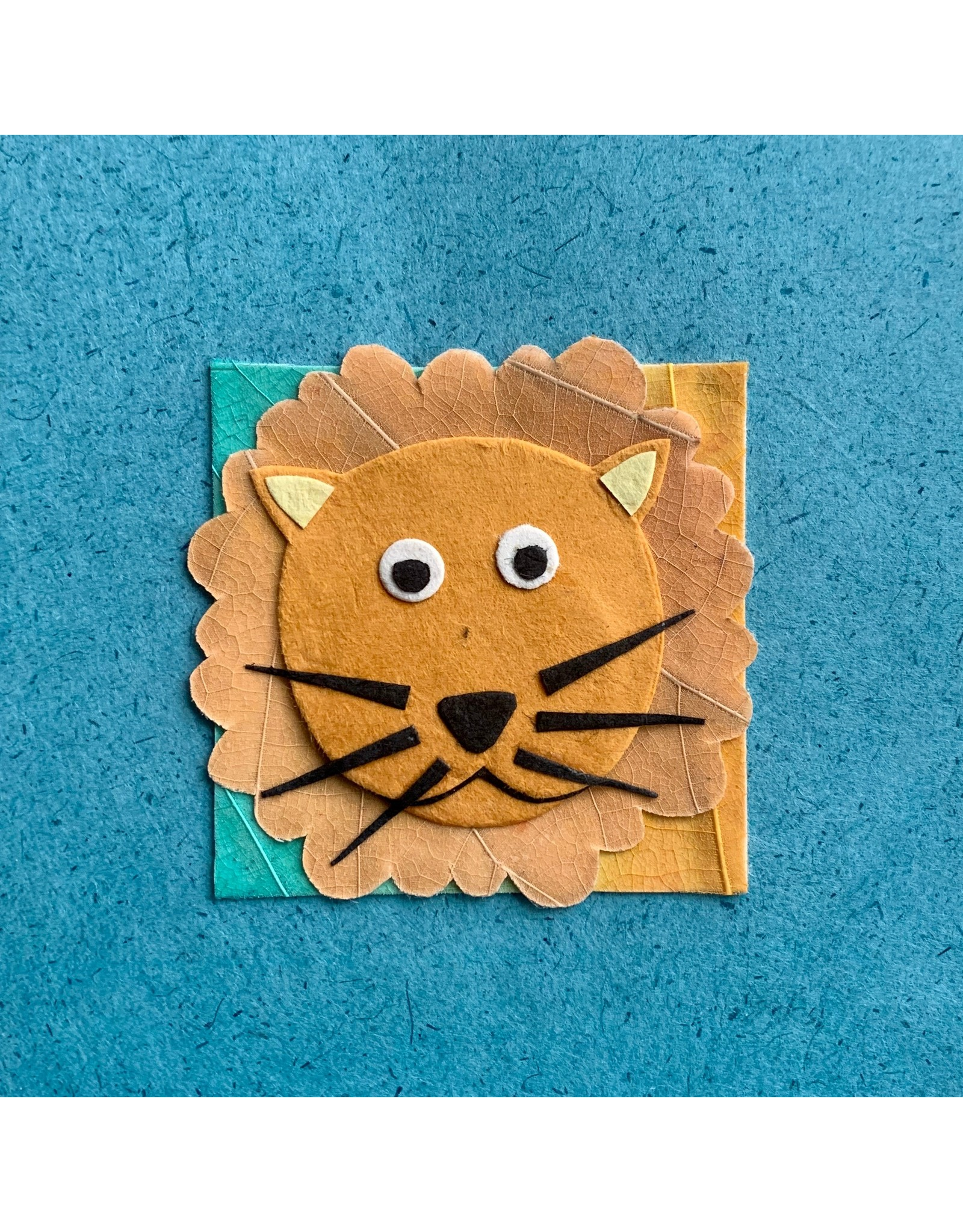 Ten Thousand Villages CLEARANCE Friendly Lion Greeting Card, Philippines