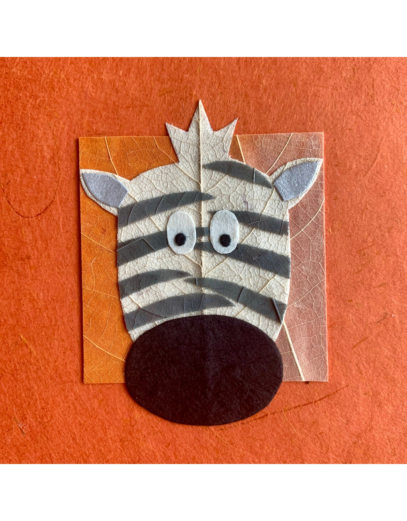 Ten Thousand Villages Wishful Zebra Greeting Card