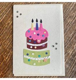 Ten Thousand Villages Birthday Cake Card