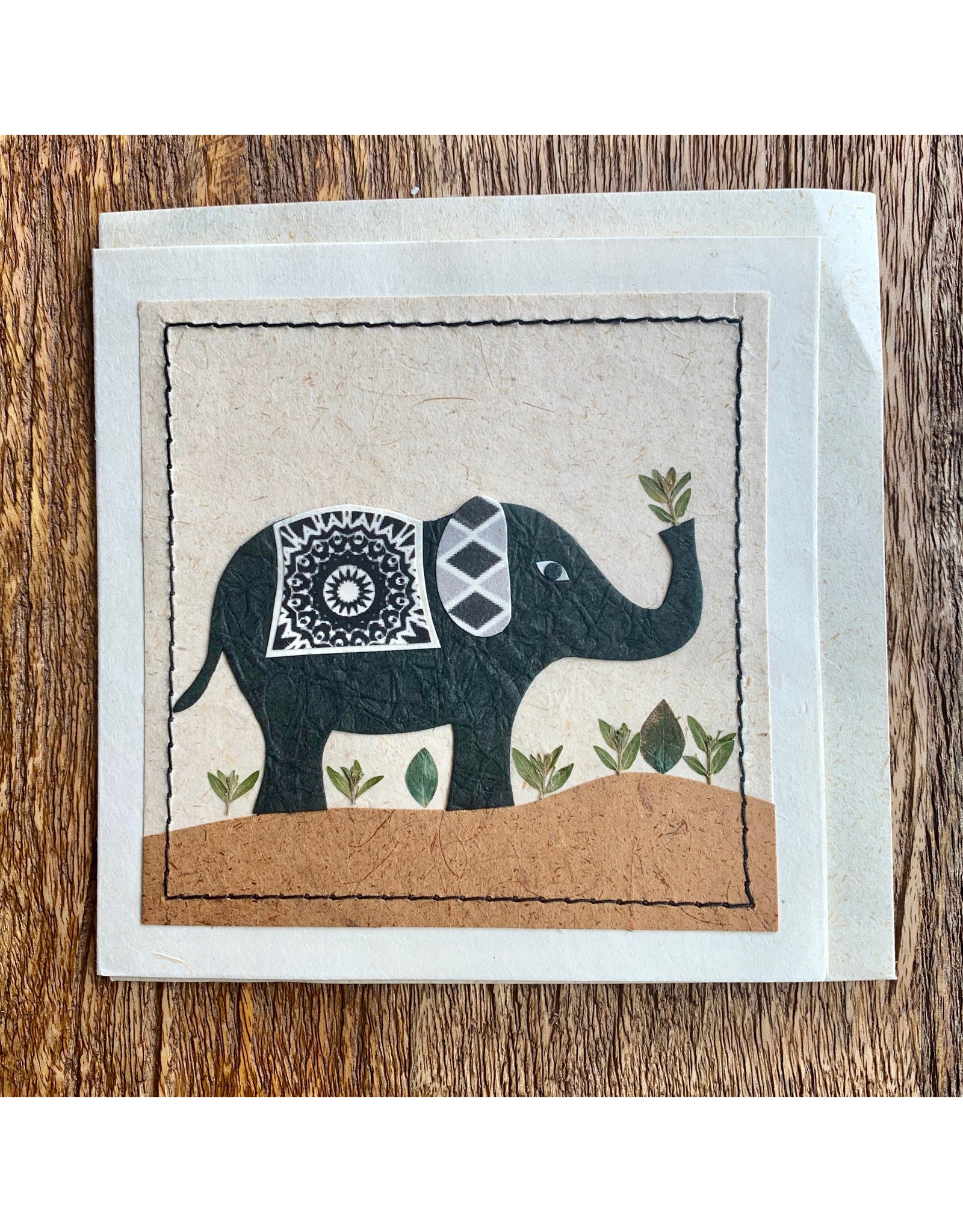 Ten Thousand Villages Peaceful Elephant Card