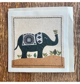 Ten Thousand Villages Peaceful Elephant Card