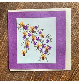 Ten Thousand Villages Lavender Flowers Greeting Card