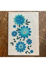Ten Thousand Villages Blue Daisy Greeting Card