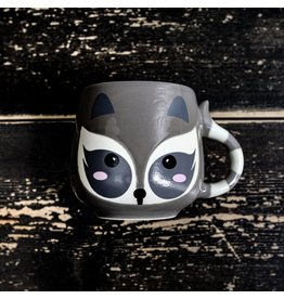 Ten Thousand Villages Mini Raccoon Ceramic Mug