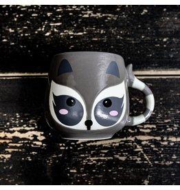 Ten Thousand Villages Raccoon Ceramic Mug, 8oz/240ml, Vietnam