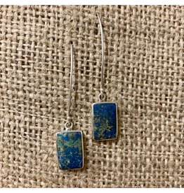 Ten Thousand Villages Stormy Sea  Azurite Earrings