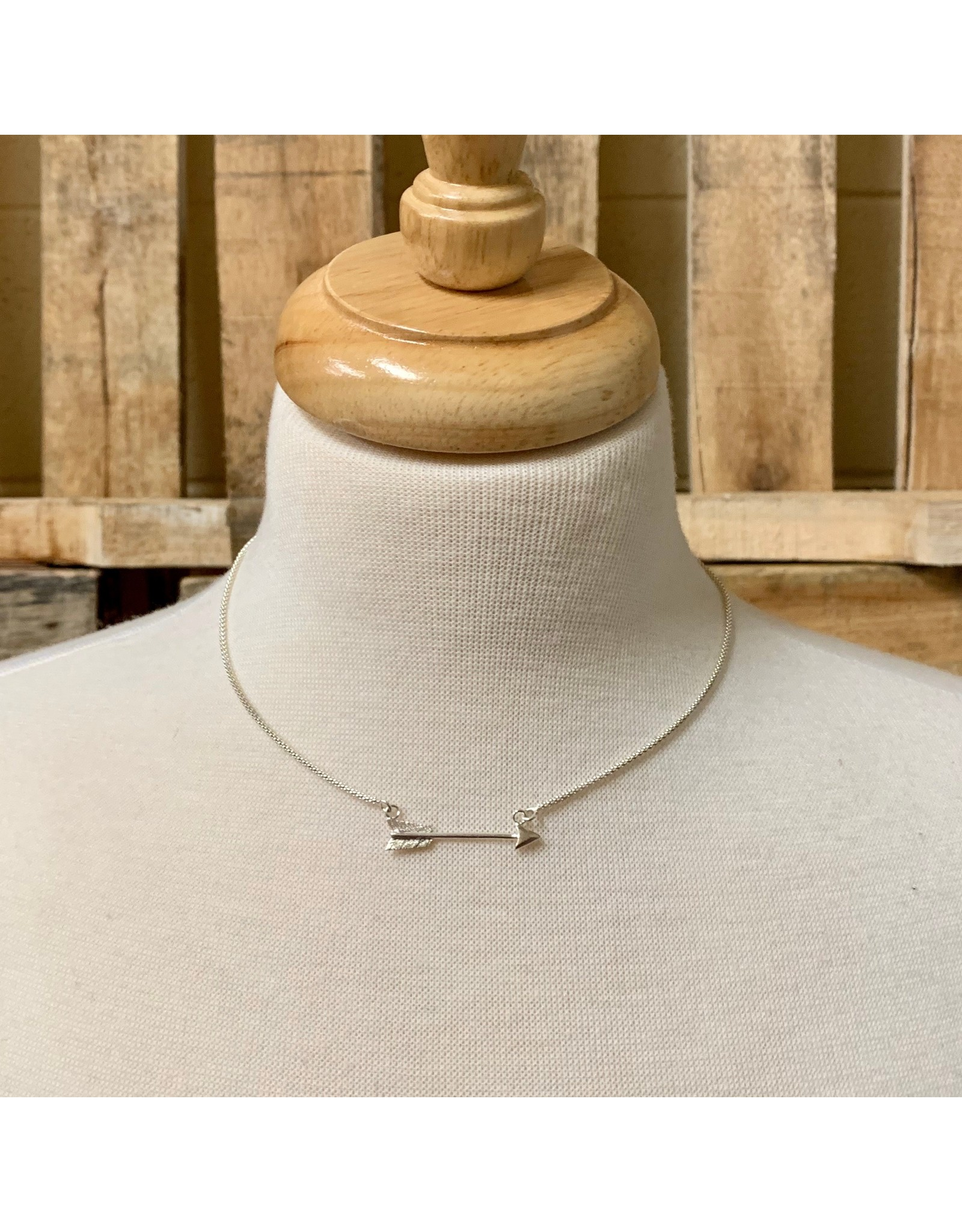 Ten Thousand Villages Silver Arrow Necklace