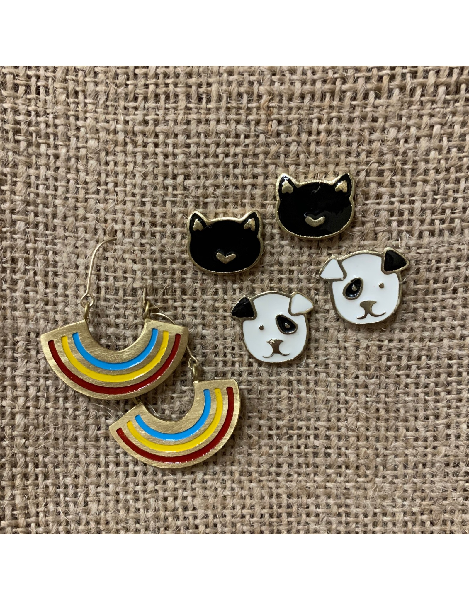 Sit Stay Puppy Stud Earrings, India