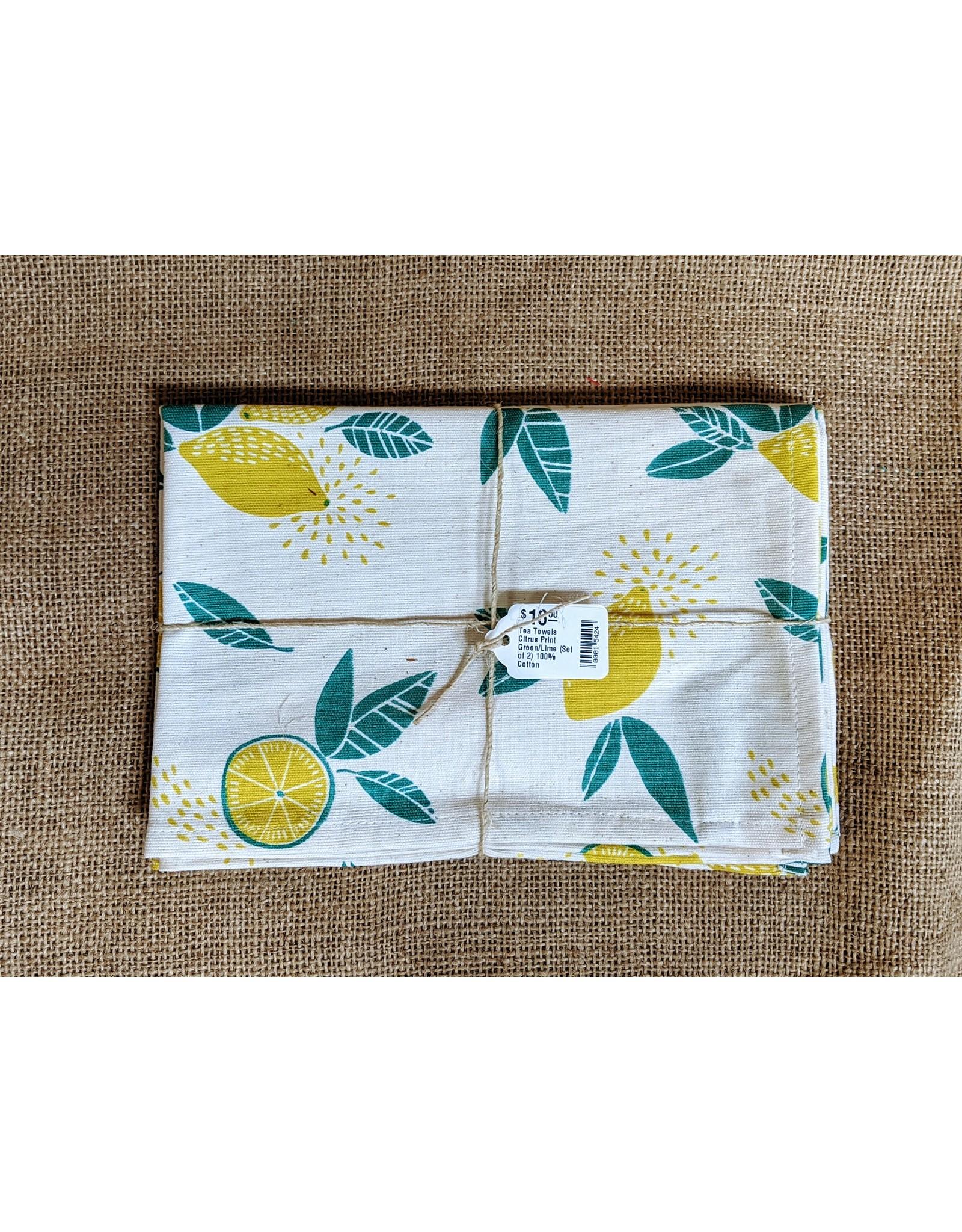 Ten Thousand Villages Citrus Print Tea Towels