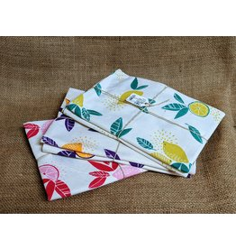 Ten Thousand Villages Citrus Print Tea Towels