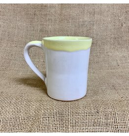 Ten Thousand Villages Yellow Rimmed Mug