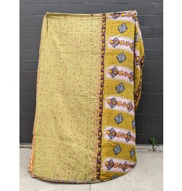 Ten Thousand Villages Upcycled Sari Duvet Cover OOAK 3 (Yellows)