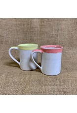 Ten Thousand Villages CLEARANCE  Coral Rimmed Mug, Nepal