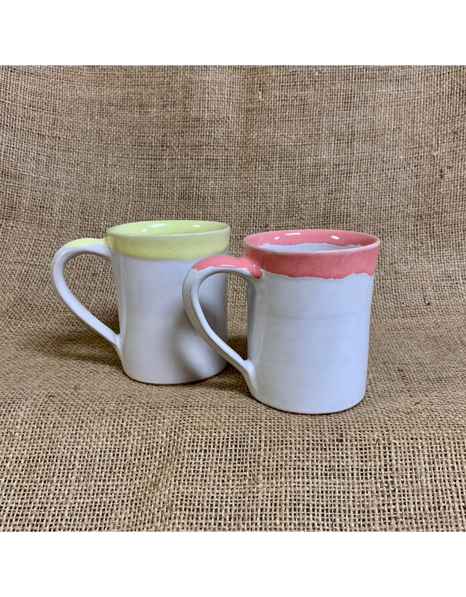Ten Thousand Villages Coral Rimmed Mug