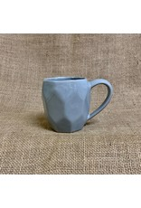 Ten Thousand Villages Gray Octagon Stoneware Mug