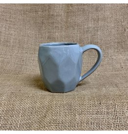 Ten Thousand Villages Gray Octagon Stoneware Mug