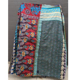 Ten Thousand Villages Upcycled Sari Duvet Cover OOAK 5 (Blues)
