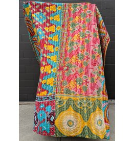 Ten Thousand Villages Upcycled Sari Duvet Cover OOAK 6 (Brights)