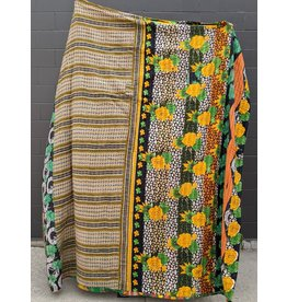 Ten Thousand Villages Upcycled Sari Duvet Cover OOAK 9 (Yellows)