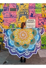 Ten Thousand Villages Bright Mandala Tablecloth