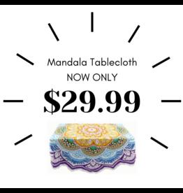 Ten Thousand Villages Bright Mandala Tablecloth, India