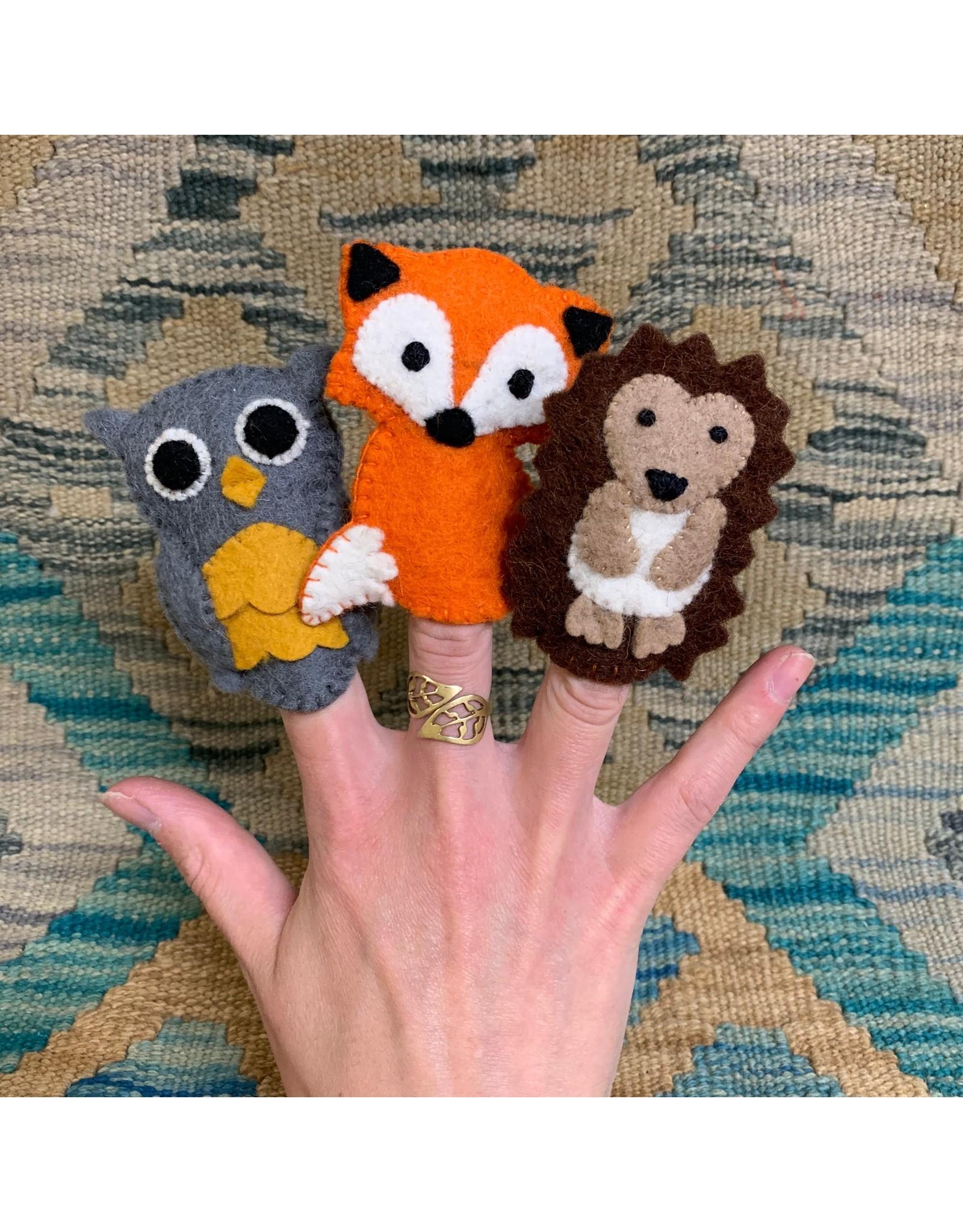 Ten Thousand Villages Hedgehog Felt Finger Puppet
