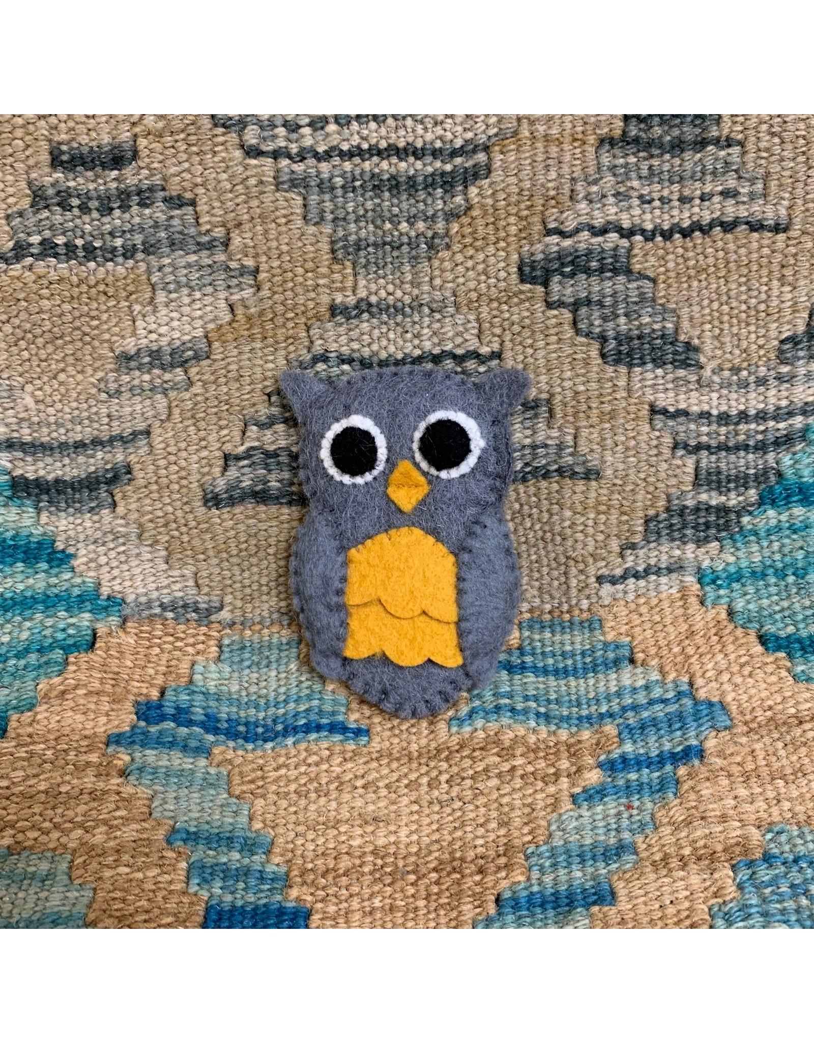 Ten Thousand Villages Owl Felt Finger Puppet