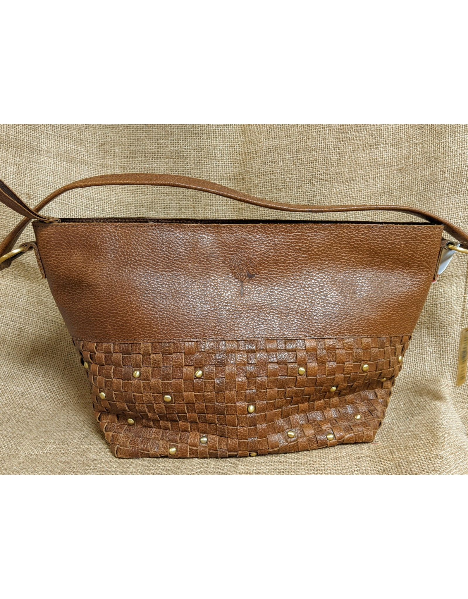 Ten Thousand Villages CLEARANCE  Basketweave Eco Leather Purse, India