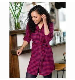 CLEARANCE Sabina Shirtdress Red Gingham