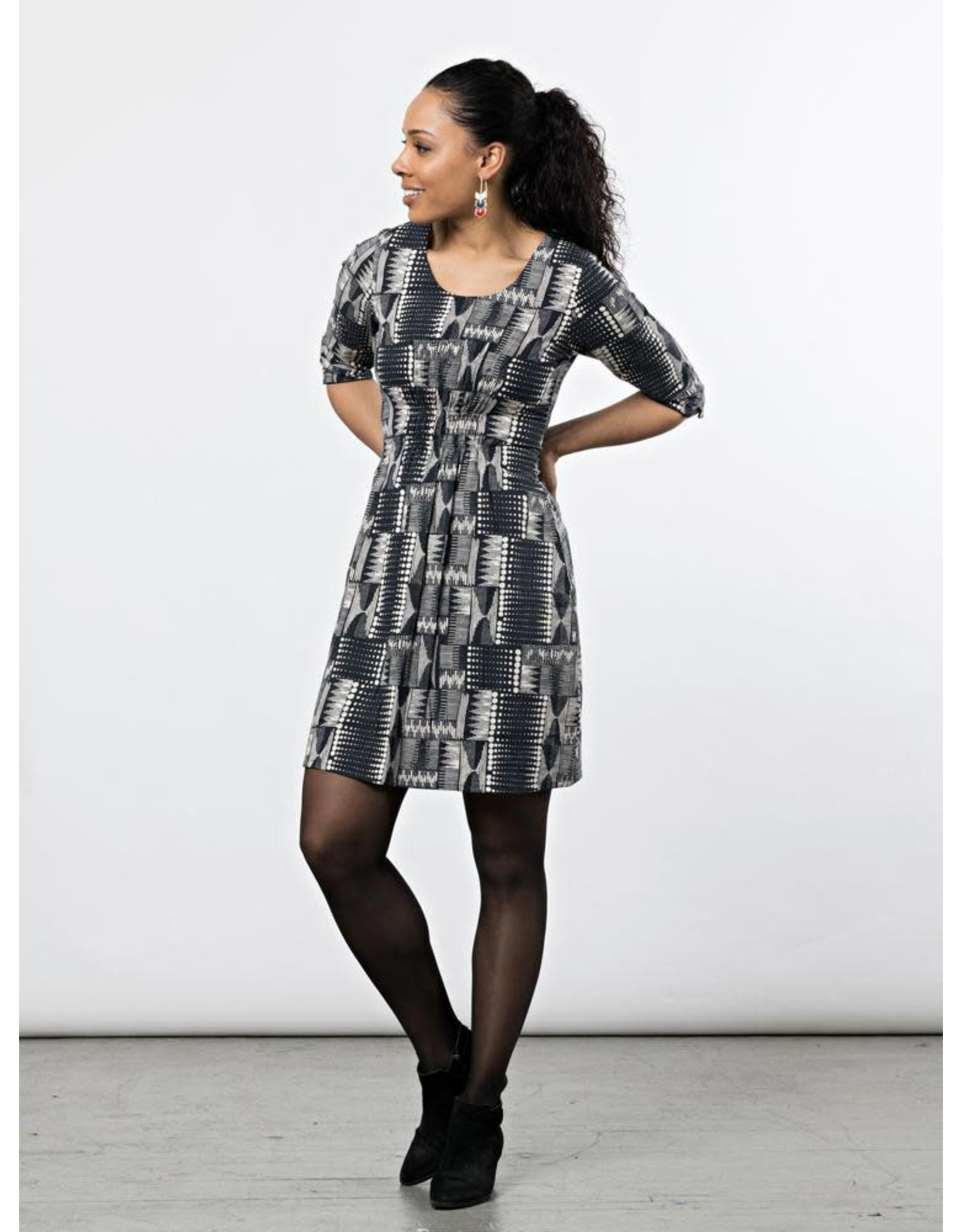 CLEARANCE Annabelle Dress Black Geo