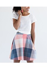 Skirt, Amelia Pink Plaid, XL