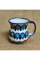 Lucia's Imports Blue Raindrop Coffee Mug