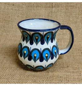 Lucia's Imports Blue Raindrop Coffee Mug, 15oz/440ml, Guatemala