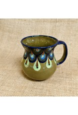 Lucia's Imports Green Raindrop Coffee Mug