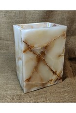 Ten Thousand Villages Rectangular Onyx Lamp