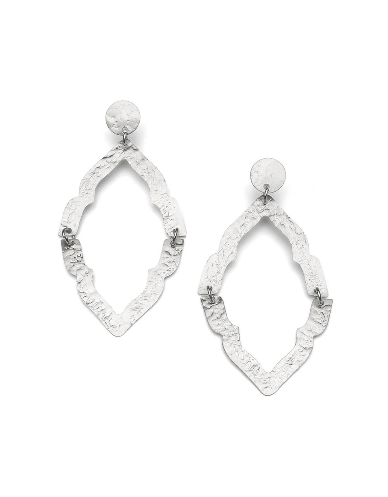 Matr Boomie Nihira Ashram Window Earring- Silver. India