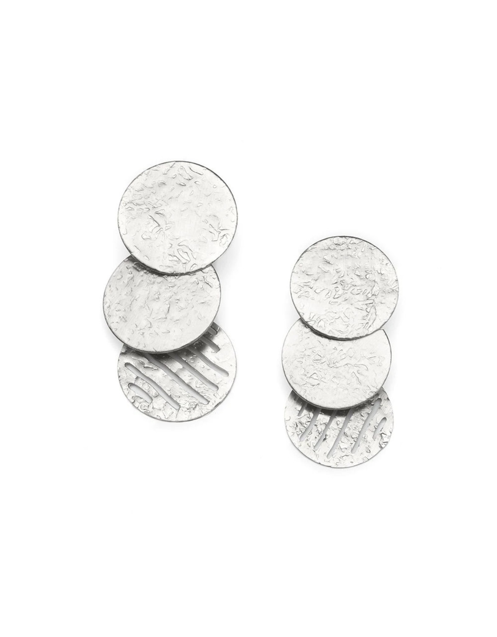 Matr Boomie Nihira Silver Coin Earrings, India