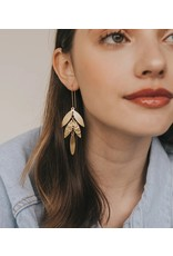 Matr Boomie Gold Leaf Drop Earrings, India