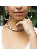 Matr Boomie Selene Silver Hoop Earrings, India