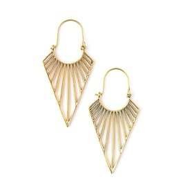 Fair Anita Geometric Triangle Hoops