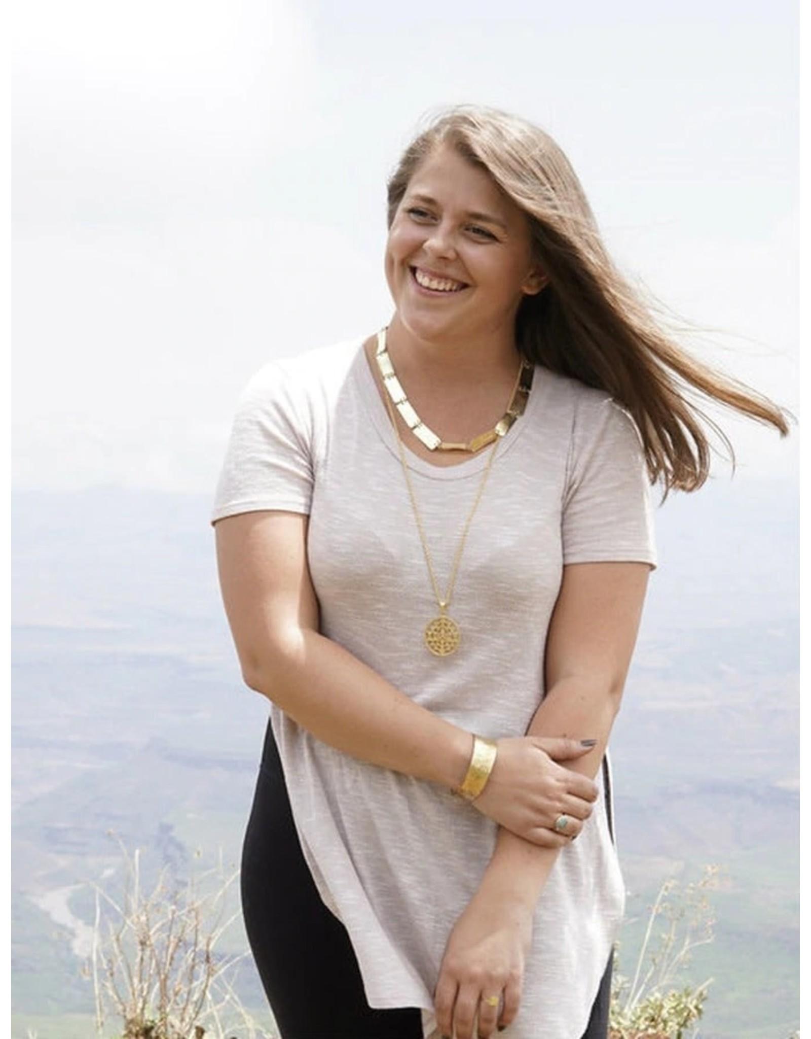 Fair Anita Pretty Pathways Brass Necklace