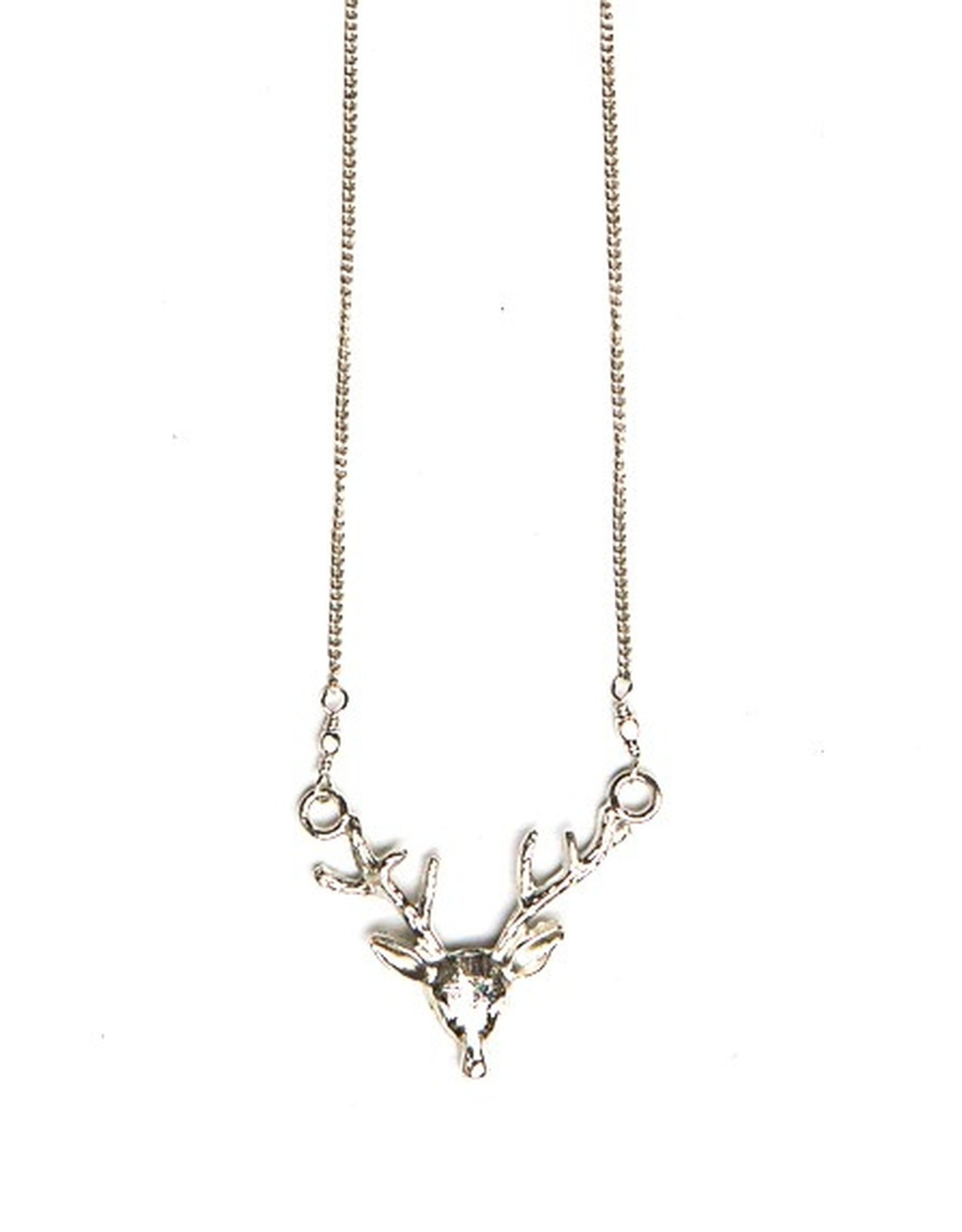 Fair Anita Antlers Necklace, Silver. India