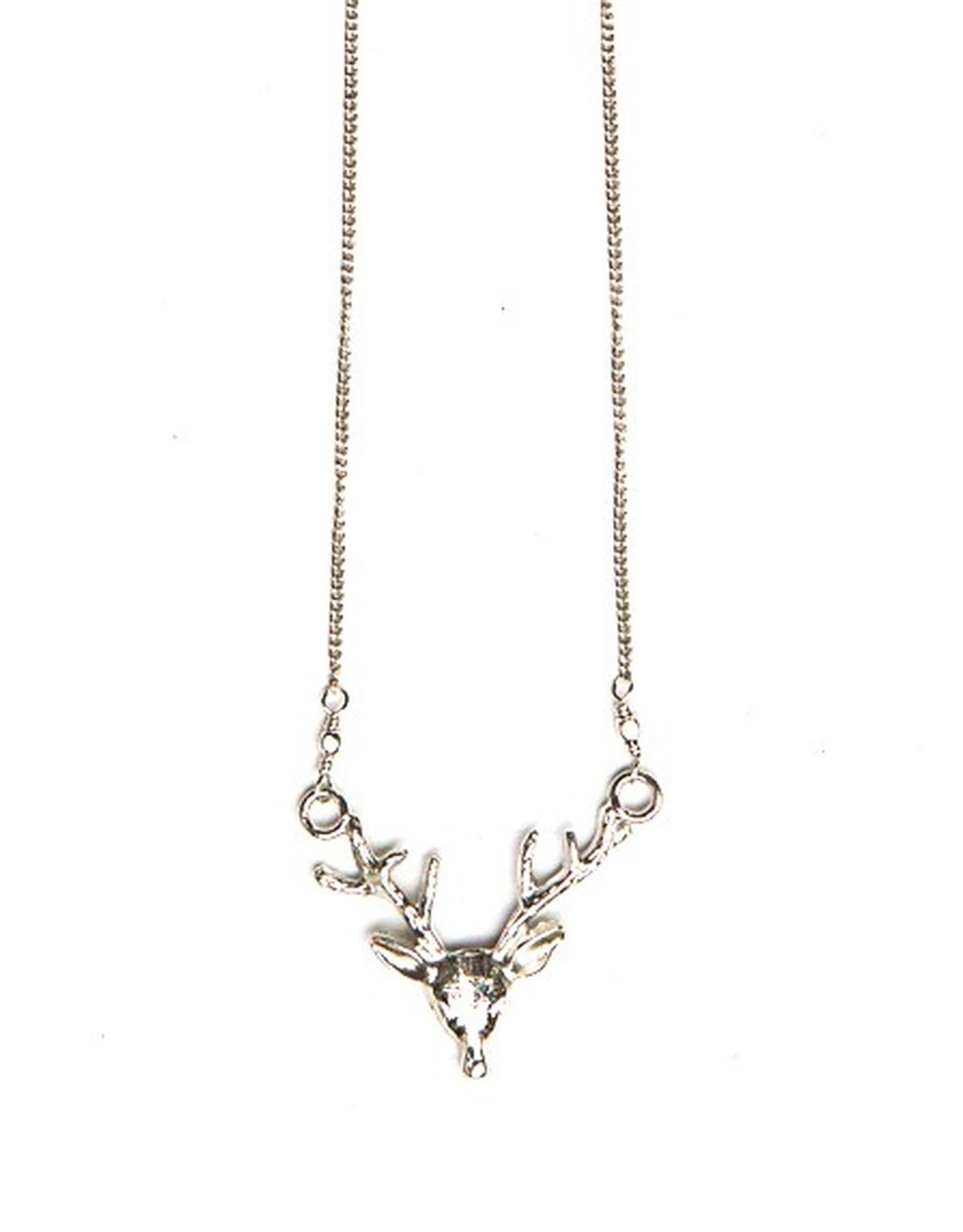 Fair Anita Antlers Necklace, Silver