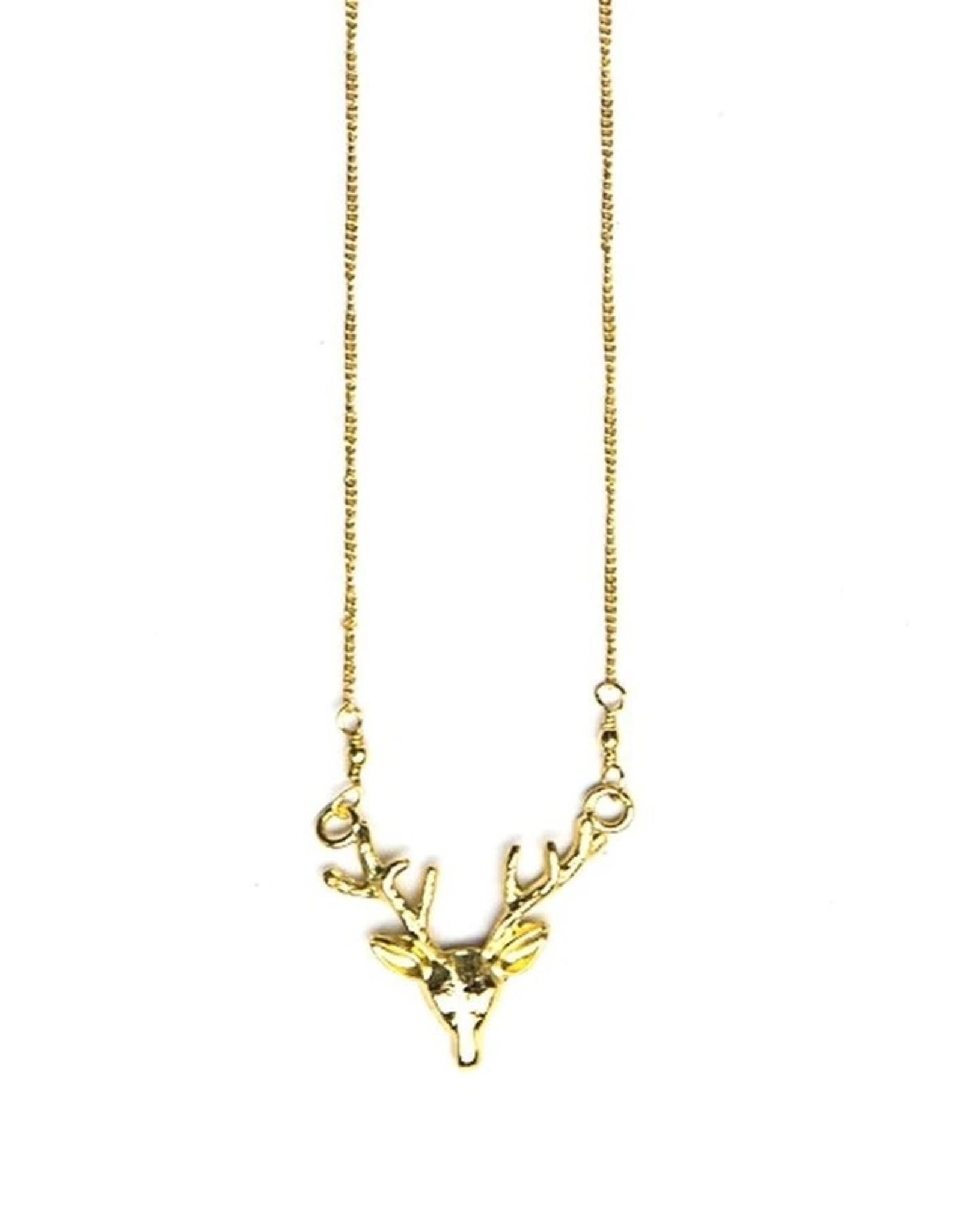 Fair Anita Antlers Necklace, Brass, India