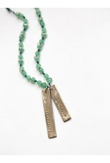 Fair Anita Resilient Stamped Jade Necklace, Peru