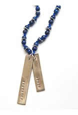 Fair Anita Brave Stamped Lapis Necklace
