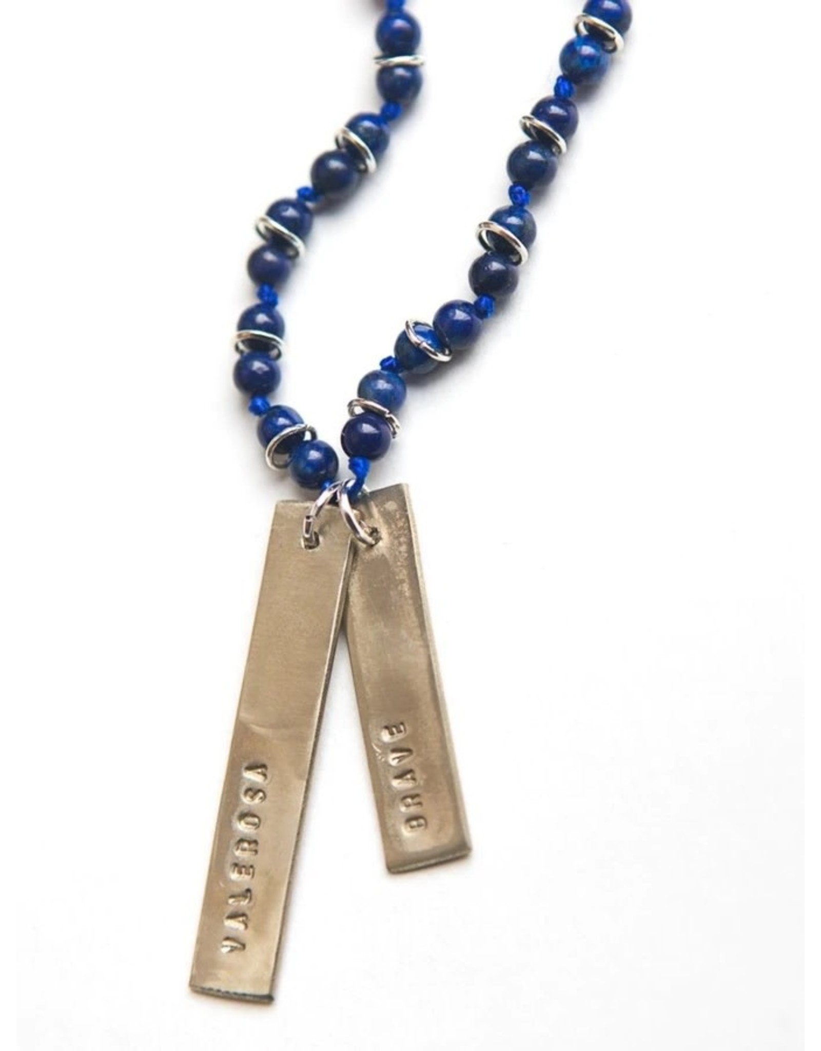 Fair Anita Brave Stamped Lapis Necklace