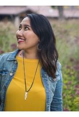 Fair Anita Brave Stamped Lapis Necklace, Peru