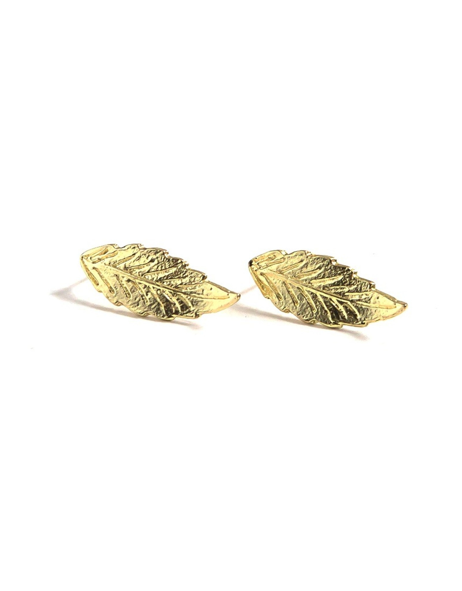 Fair Anita Brass Foliage Studs