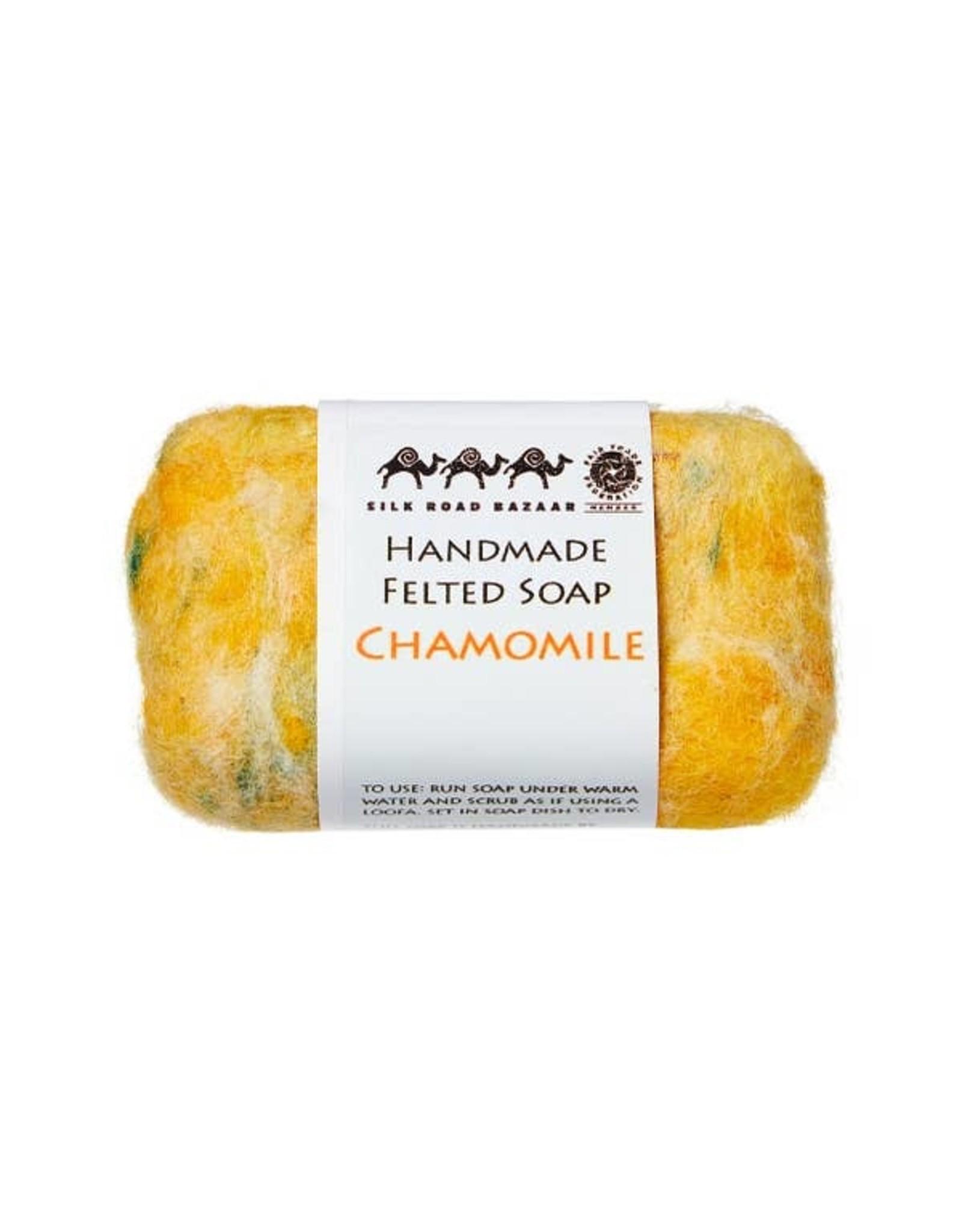 Silk Road Bazaar Chamomile Handmade Felted Soap